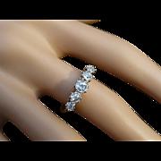 REDUCED Classic 5 Stone Diamond 18k Gold & Platinum Ring
