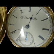"""REDUCED Elegant 14k  Gold """"Elgin"""" gents Pocket Watch"""