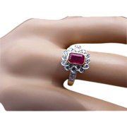 REDUCED A very fine Ruby & Diamond Cluster Ring