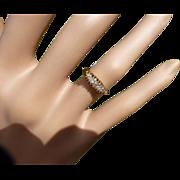 REDUCED 1894 5 stone 18k  Diamond Ring