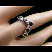 REDUCED Wishbone style Sapphire & Diamond Ring