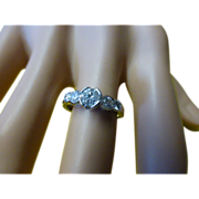 REDUCED Unusual Design Diamond 5 Stone Ring