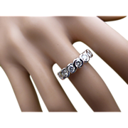 REDUCED 7 Stone DIAMOND half Eternity Ring, almost 1 Carat.