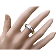 "REDUCED ""Princess Cut"" Half Eternity Diamond 18k Ring"