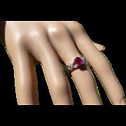 Oval Ruby & Diamond ring * * * * *