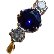 REDUCED Classic Sapphire & Diamond 18k Ring