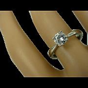 REDUCED Single Stone Diamond Platinum Ring * * * * *
