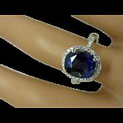 REDUCED 5 Carat Sapphire &  Diamond Ring