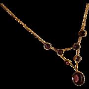 "REDUCED Victorian 15k ""Amethyst"" Necklace"