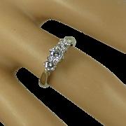Classic 3 Stone Diamond Platinum Ring * * * * *