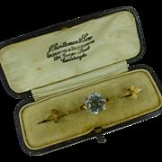 REDUCED The finest Aquamarine & Diamond Brooch * * * * *
