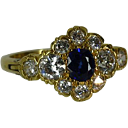 REDUCED Classic EXPANDING Sapphire & Diamond Cluster Ring