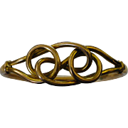 """Victorian Gold """"Knot"""" Bangle"""