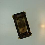 Very large Smoky Quartz, (Citrine) gold Ring