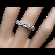 REDUCED Twist design 18k Diamond Ring