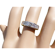 REDUCED A Very Fine Princess Cut Diamond Half Eternity Ring