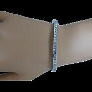 "REDUCED 11 CARAT Princess Cut Diamond ""Tennis Bracelet"" * * * * *"