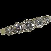REDUCED Classic design Diamond 18k  5 Stone Ring…..