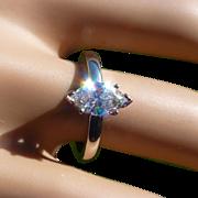 REDUCED Large Single stone Marquise Diamond Ring