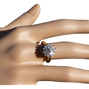 A neat Compact Diamond Cluster Ring