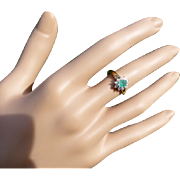 REDUCED A quality but but inexpensive Emerald & Diamond Ring