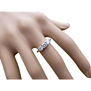 REDUCED Plain, Simple but Quality 3 stone Diamond Platinum Ring