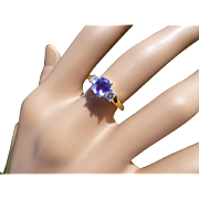 REDUCED Tanzanite  & Diamond 3 Stone ring