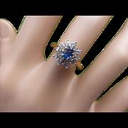 Attractive Diamond & Sapphire multi Custer Ring.