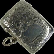 1904 Hallmarked  solid Silver Vesta