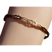 "REDUCED Fancy HEAVY ""Rose"" Gold  ""Slave"" Bangle"
