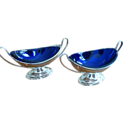 Pair of Stirling Silver Edwardian Salts