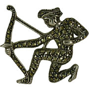 "REDUCED Vintage Marcasite ""Archer"" Brooch."