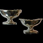 REDUCED Pair of George III Silver Salts By Bateman