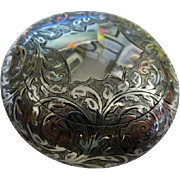SALE Fine Solid Silver English Tobacco Box 1907