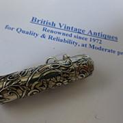 REDUCED Art  Nouveau Perfume Silver Bottle