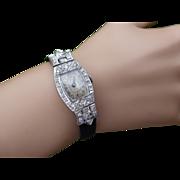 REDUCED Ladies Vintage Diamond & Platinum Cocktail Watch
