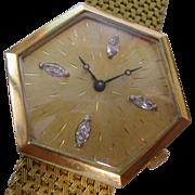 REDUCED 18ct. Gold & Diamond Gents Watch & Bracelet
