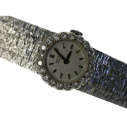 REDUCED 1 carat  Diamond Ladies 18k watch & Bracelet...