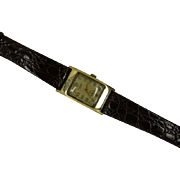 "Famous London "" Benson"" retro Gold 1950 Gents Wrist Watch"