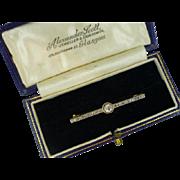 Neat, Classic, Early Victorian English Diamond Brooch