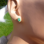 REDUCED Real EMERALD Ear Studs….. at this price !
