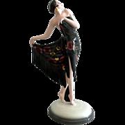 Goldscheider Figure Art Deco Porcelain Lady with Shawl