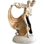 Katzhutte Dancers Art Deco Porcelain Figure