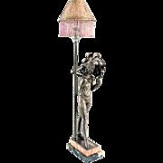 Art Deco Fan Dancer Lamp LeClerc
