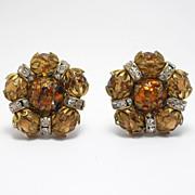 Hobe Crystal & Art Glass Vintage Earrings