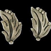 Taxco Maricela Silver Leaf Earrings