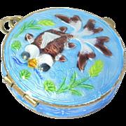 Ornate Koi Cloisonne Enamel Silver Chinese Locket
