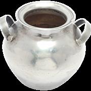 Miniature 900 Silver Estate Vase Or Urn Signed