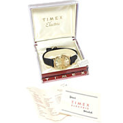 Vintage Timex Electric Watch As Is Original Box & Papers