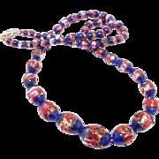 Beautiful Czech Glass Foiled Beads Graduated Long